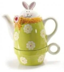 SET 1 TEIERA E 1 TAZZA RABBIT IN CERAMICA