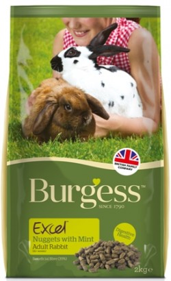BURGESS RABBIT ADULT CON MENTA 2Kg