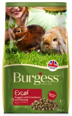 BURGESS RABBIT MATURE 2 Kg (per conigli dai 5 anni in poi)