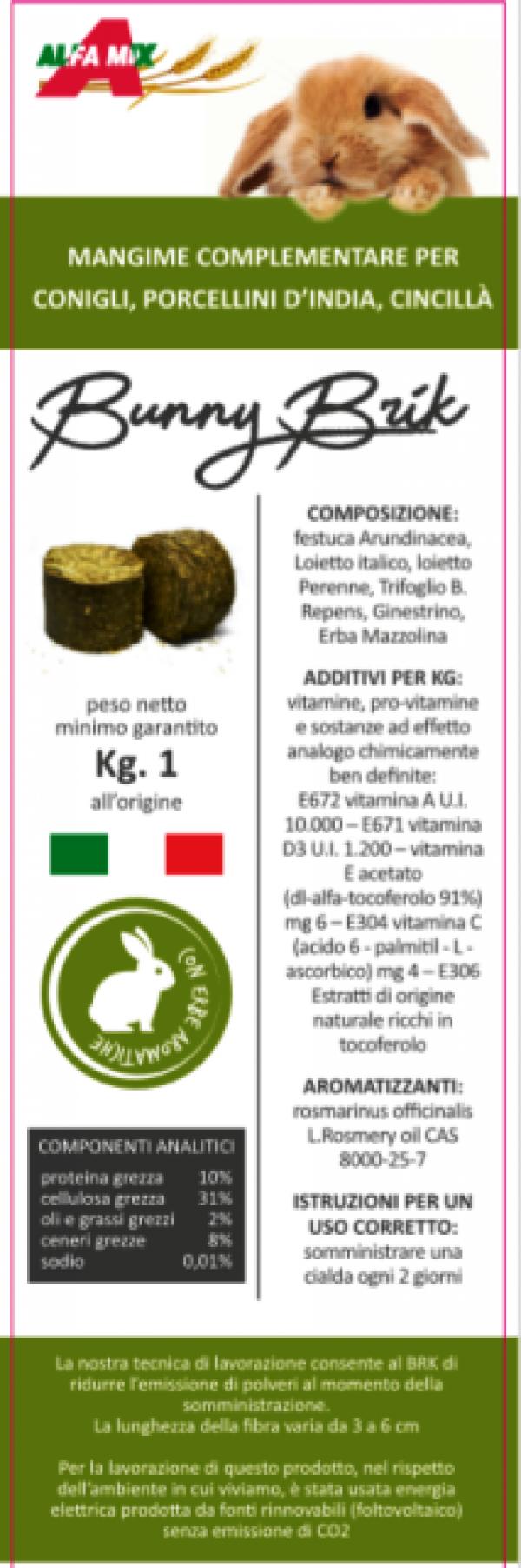 BUNNY BRIK 1kg (fieno compatto polifita)