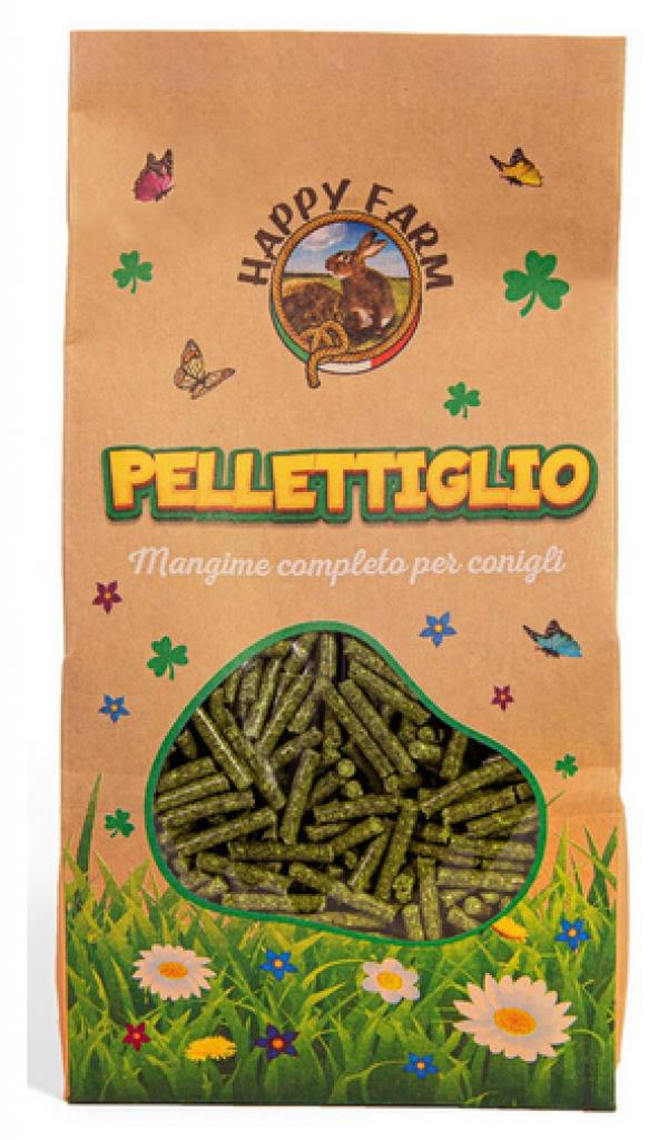 HAPPY FARM PELLETTIGLIO (mangime per conigli) kg. 1